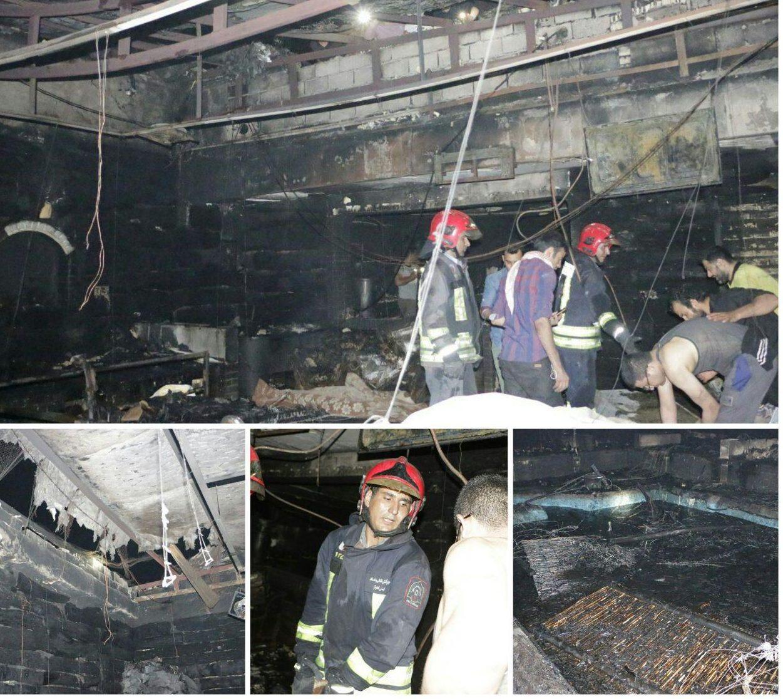 همه چیز در خصوص آتش سوزی قهوهخانه کوی علوی اهواز در بازار کیان اهواز ( نبش مدرس)