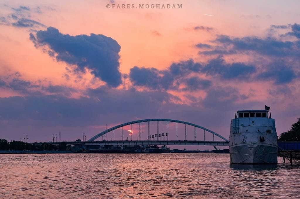 نمایی زیبا از پل جدید خرمشهر دیدنیهای خرمشهر به تفکیک محله های و نوع خدمات