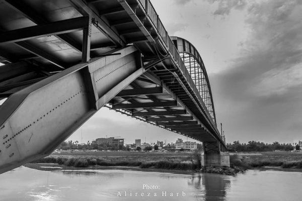 پل سفید اهواز از نمایی دیگر