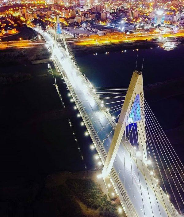 پل کابلی اهواز از نمایی دیگر