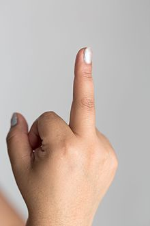 انگشت وسط